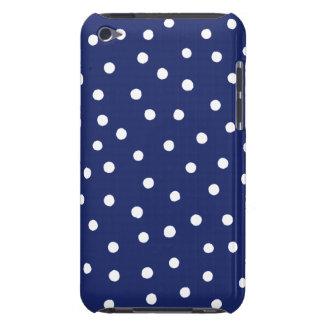 Marine-Blauund Weißconfetti-Punkt-Muster iPod Touch Cover