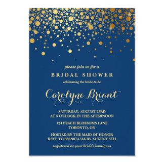 Marine-Brautparty Imitat-Goldfolieconfetti-| 12,7 X 17,8 Cm Einladungskarte