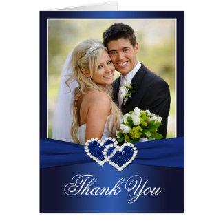 Marine-danken keltisches Liebe-Knoten-Foto Ihnen Karte