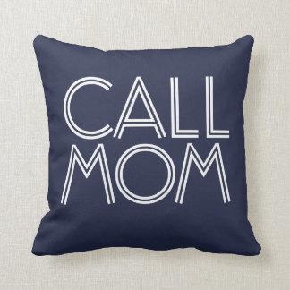 Marine der Anruf-Mamma-| u. weißes dekoratives Kissen
