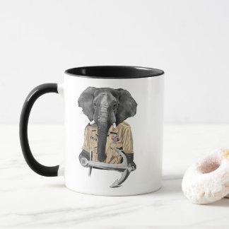 Marine-Elefant Tasse