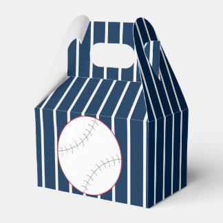 Marine-gestreifter Baseball-Bevorzugungs-Kasten Geschenkschachtel