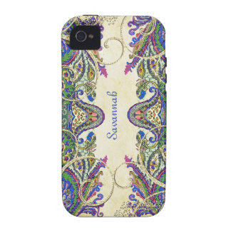 Marine-GoldVintager Pfau-Paisley iPhone 4 Fall iPhone 4/4S Hüllen