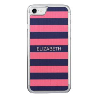 Marine Horiz des Pink-#2 adrettes Carved iPhone 8/7 Hülle