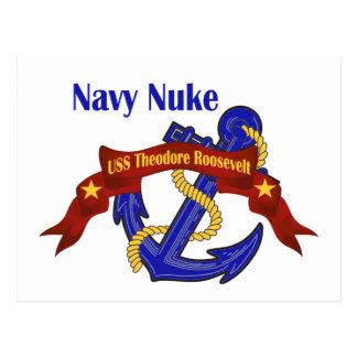 Marine-Kernwaffe ~ USS Theodore Roosevelt Postkarte