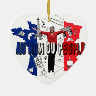 Marine Le Pen Keramik Herz-Ornament