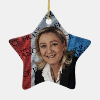 Marine Le Pen Keramik Stern-Ornament