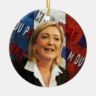 Marine Le Pen Rundes Keramik Ornament