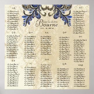 Marine-Pfau - 100 bis 150 Gäste - alphabetisch Poster