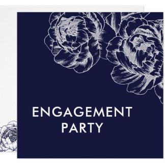 Marine-Pfingstrosen-einfache Verlobungs-Party Karte