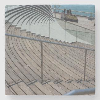 Marine-Pier-Treppe Steinuntersetzer