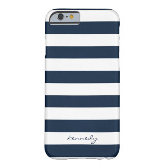Marine Stripes Muster personalisierten iPhone 6 Barely There iPhone 6 Hülle