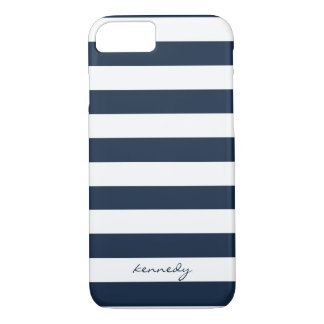 Marine Stripes Muster personalisierten iPhone 7 iPhone 8/7 Hülle
