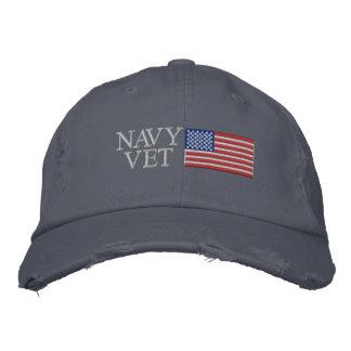 Marine-Tierarzt mit amerikanischer Flagge Bestickte Caps