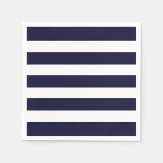 Marine u. weiße Streifen-Servietten Papierservietten