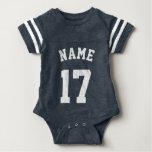 Marine u. weißer Sport-Jersey-Entwurf des Baby-| Tshirt