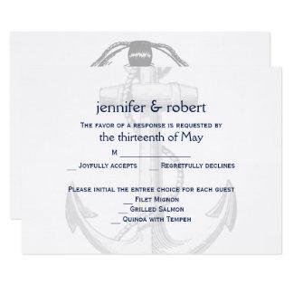 Marine-und 8,9 X 12,7 Cm Einladungskarte
