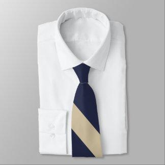 Marine und blasse GoldhochschulKrawatte Krawatte