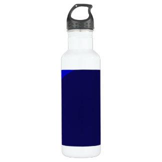 Marine und blaue Digital-Minimalismus-Kunst Trinkflaschen