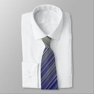 Marine und gelbe Steigungs-Linie Muster Krawatte