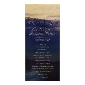 Marine-und GoldAquarell-Wäsche-Hochzeits-Programm Werbekarte