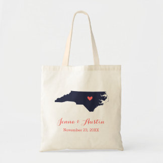 Marine-und Korallen-North Carolina, das Einkaufstasche