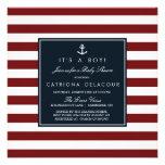 Marine und rote SeeBabyparty-Einladung