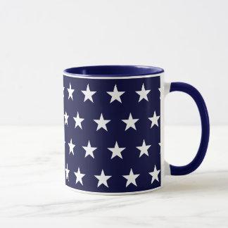 Marine-und Weiß-Sterne Tasse