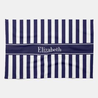 Marine-weißes Streifen-Marine-blaues Handtuch