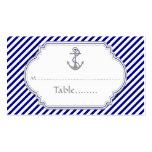 Marineblau-Ankerseehochzeits-Platzkarte Visitenkarte