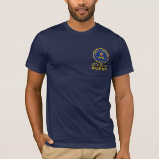 Marineblau FUGITIVE ERHOLUNGS-AGENT T-Shirt