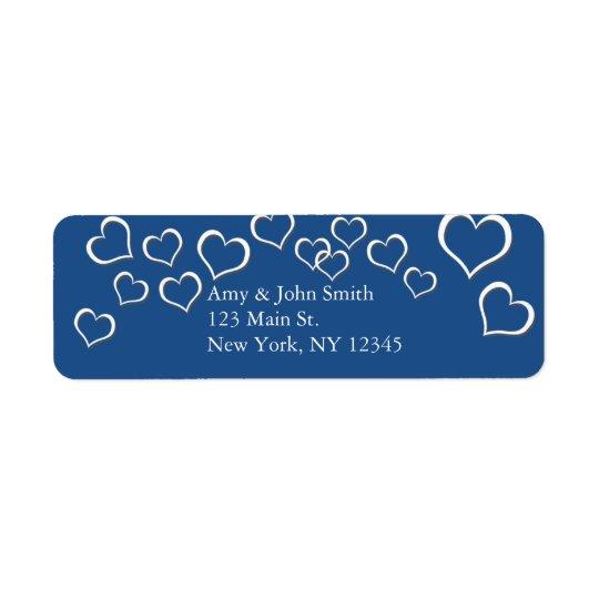 Marineblau-Herz Confetti-Hochzeitsentwurf bhp