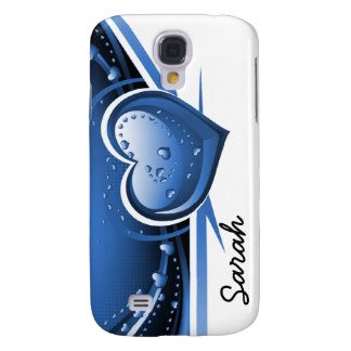 Marineblau-Herzen Pern 3 Gehäuse Galaxy S4 Hülle
