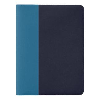 MARINEBLAU kundenspezifisches großes Notizbuch