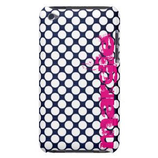 Marineblau punktiert personalisiertes namentlich iPod touch hüllen