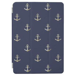Marineblau-Seeanker iPad Air Hülle