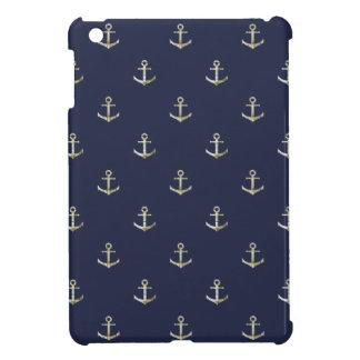 Marineblau-Seeanker iPad Mini Hülle