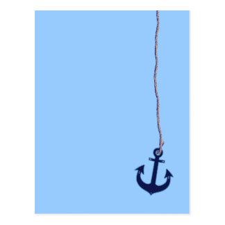 Marineblauanker Postkarte