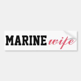 MarineEhefrau Autoaufkleber
