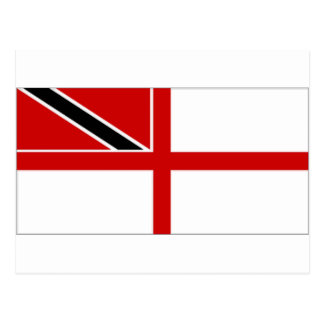 Marinefahne Trinidads Tobago Postkarte