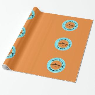 Marinefischen entspannen sich und genießen geschenkpapier