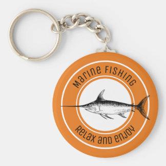 Marinefischen entspannen sich und genießen schlüsselanhänger
