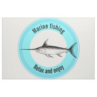 Marinefischen entspannen sich und genießen stoff