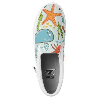 Marinegeschöpf-Muster Slip-On Sneaker