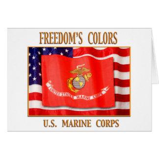 Marineinfanteriekorps-Gruß-Karte Karte