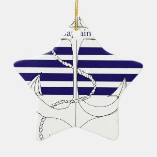 Marinekapitän, tony fernandes keramik ornament