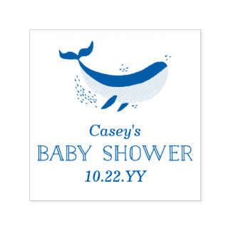 Marinelebens-Baby-Duschen-Briefmarke Permastempel