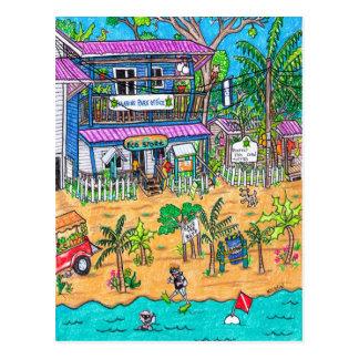 Marinepark Büro-Karte Postkarte