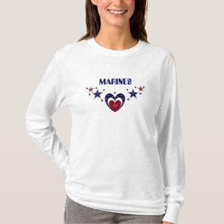 MARINEpatriotisches HERZ Shirt