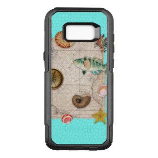 Marineschatz-beige Vintage Karte aquamarin OtterBox Commuter Samsung Galaxy S8+ Hülle